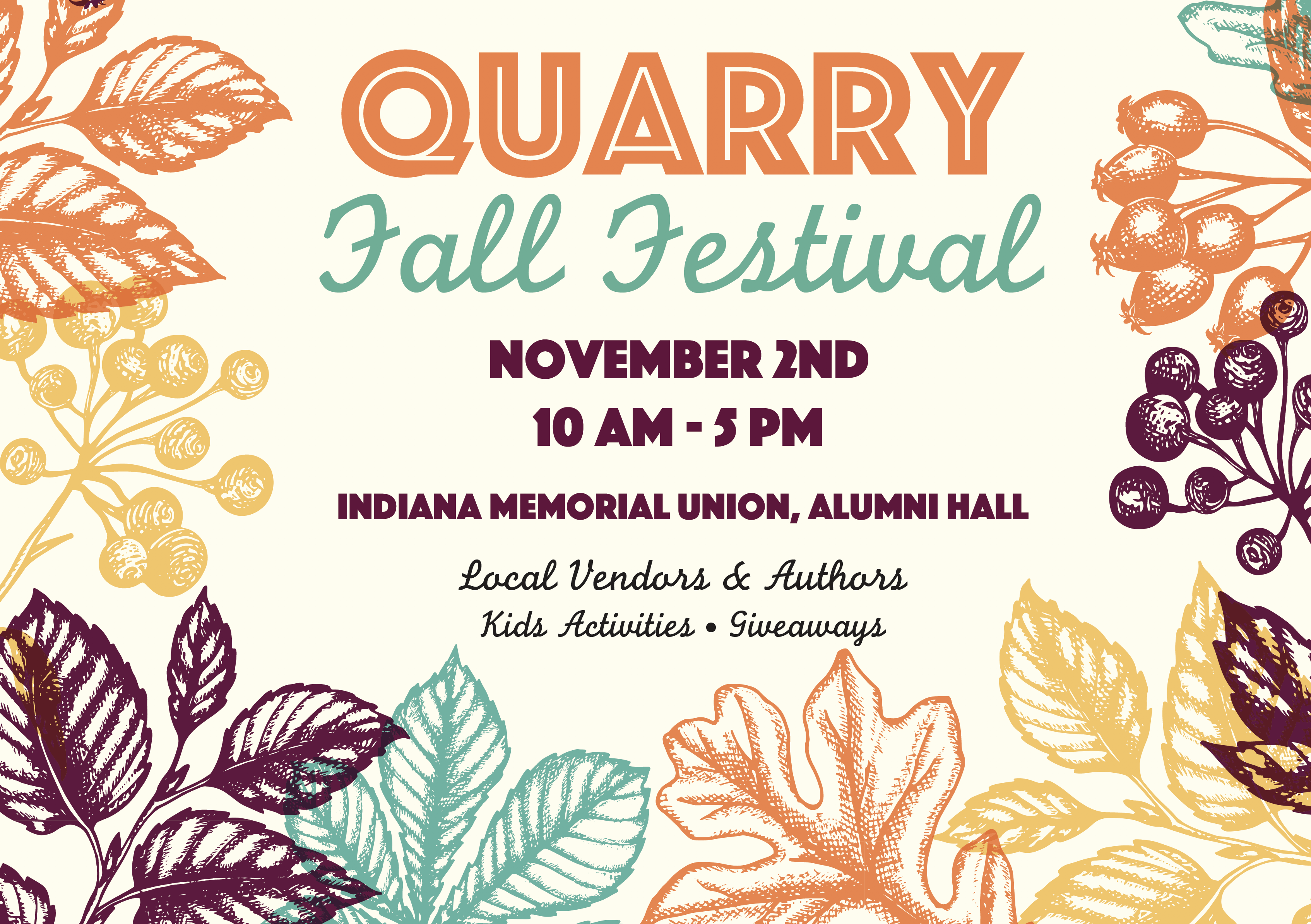 Join us at the Quarry Fall Festival on November 2, 2019!