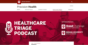Screenshot of podcast page on PHI site