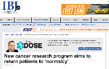 Screenshot of cancer center article on IBJ